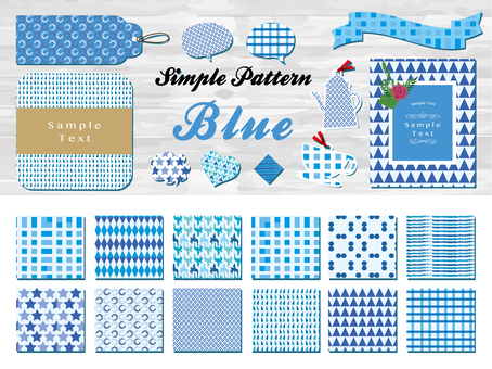 Material collection of patterns