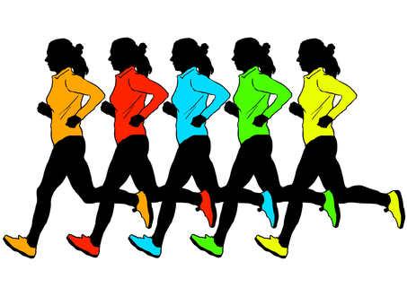Female runner silhouette 3