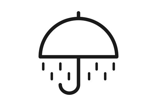 雨マークの天気アイコン