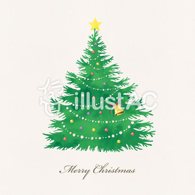 クリスマスツリー 002 水彩質感イラスト No 1249754無料