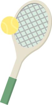 網球拍和球