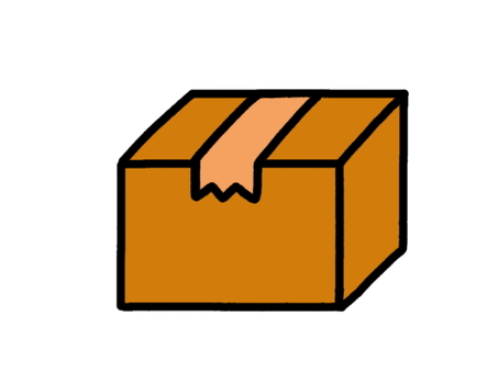 Cardboard packed