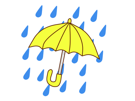 Rain and umbrella for children