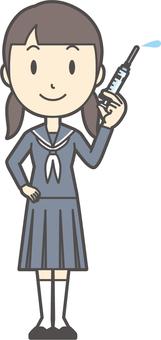Junior high school sailor woman-298-whole body