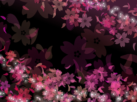 Cherry blossom background black