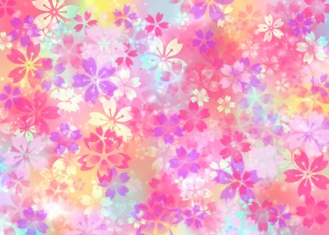 Fancy cute cherry blossom pattern wallpaper Japanese style