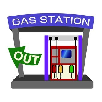 Gas station out
