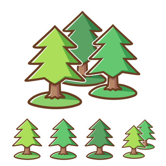 Free material of forest (conifer, cedar, cypress)