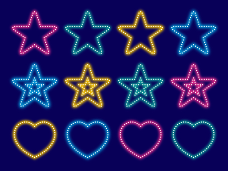 Illumination style star · heart