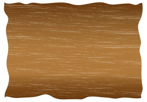 Signboard - Wood grain style - Brown