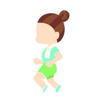 Diet - Running woman (simple)