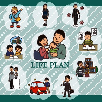 Life plan illustration pack