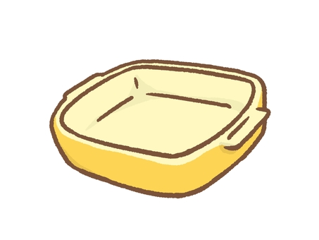 Baking dish yellow
