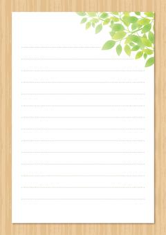 Stationery of fresh green (vertical ver)