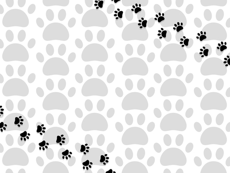 Cat's footprints background