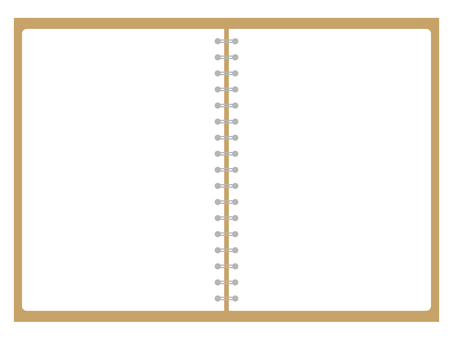 Beige Ring Note Plain