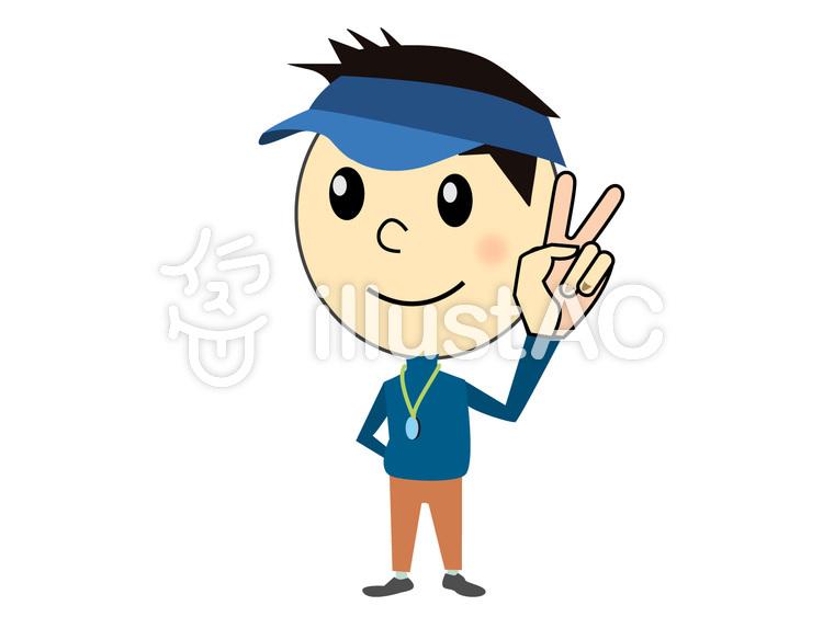 ピースをする可愛い男の子 Ai素材イラスト No 615151無料イラスト