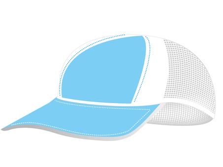 메쉬 모자 블루