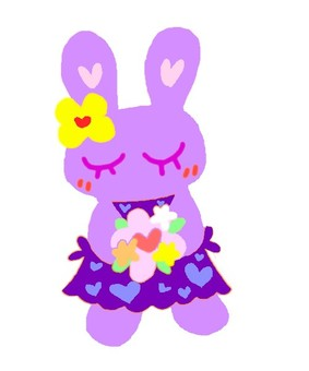 Bouquet rabbit (purple)