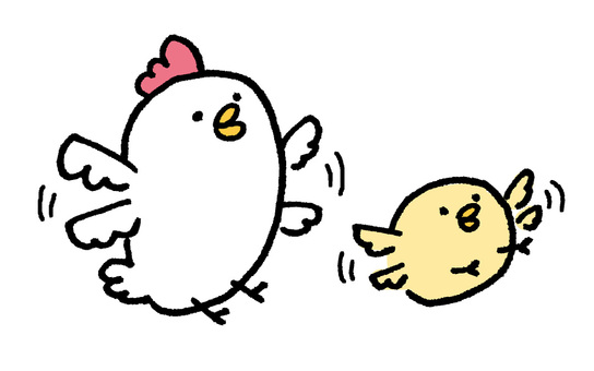 Chicken parent and child should also be able to fly