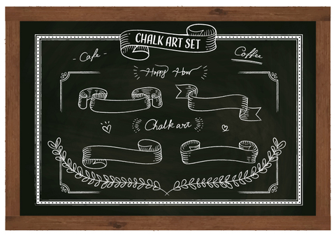 Chalk Art Set Blackboard