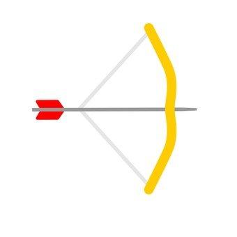 A bow and arrow