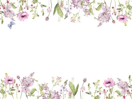 花枠298-春の歌の飾り枠フレーム