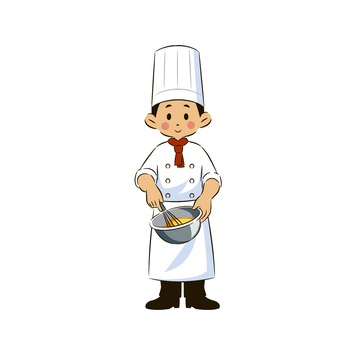 Chef with bowl