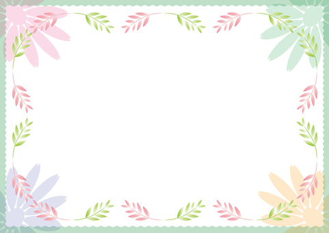 Pastel color frame