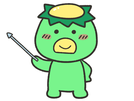Cute kappa with pointing stick