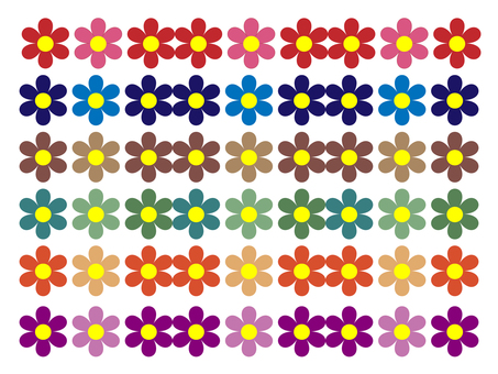 Various flower patterns material