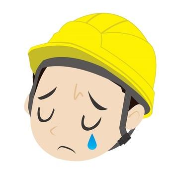 A sad helmet guy