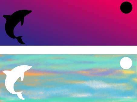 Two dolphin title frames