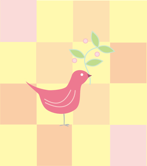 Birds and flowers 01