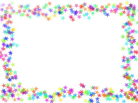 Colorful star frame