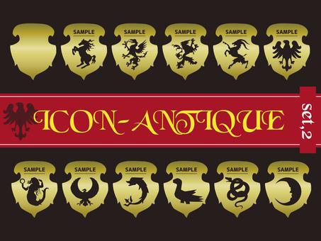 Antique heraldic set 02
