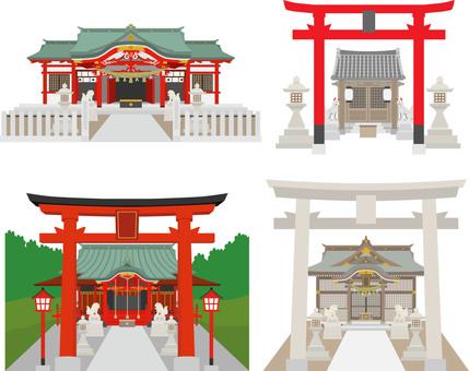 Set of Shinto Inari Shrine
