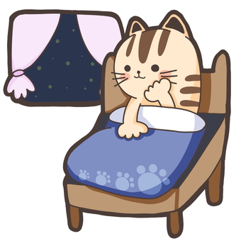 A cat that can not sleep while throbbing