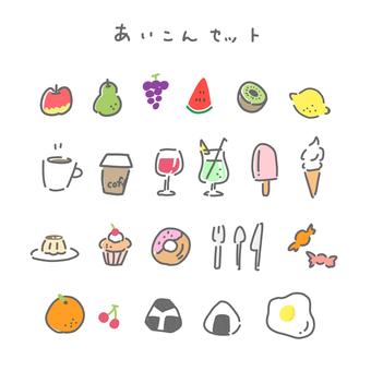 Icon set Food