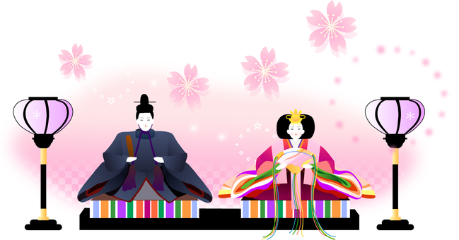 Illustration of doll festival