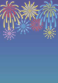 Fireworks night (vertical)
