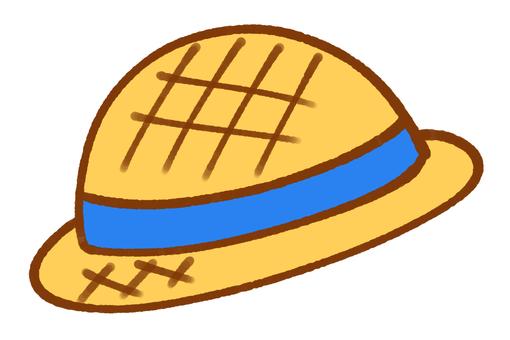 Straw hat (blue)