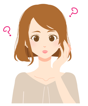 Expression of adult woman 05 / Question