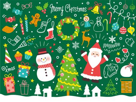 ゆるいクリスマス飾りセット