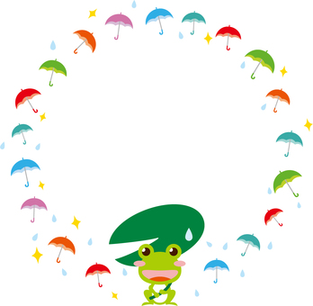 Umbrella frog frame