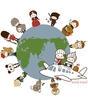 Let's go for a trip around the world !!