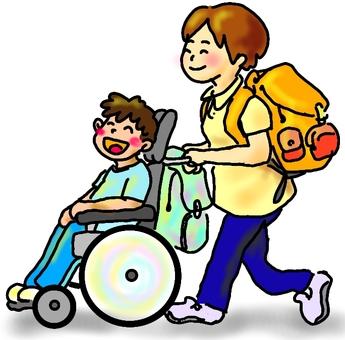 Wheelchair walk summer color