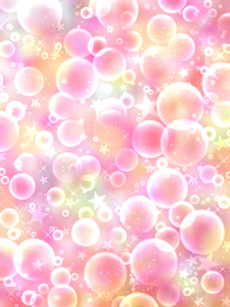 Space of soap bubbles and stars wallpaper colorful pink