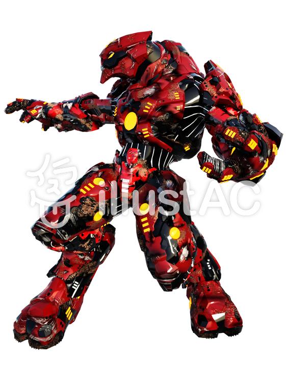 戦闘用大型ロボットのイラスト