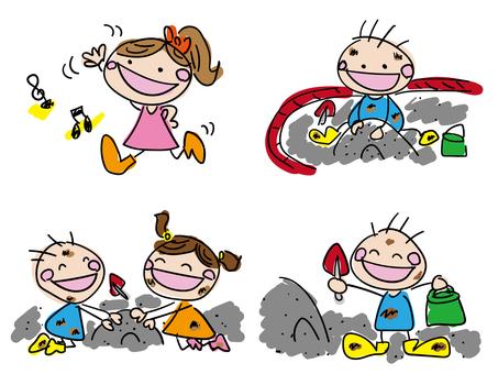Sandbox play illustration